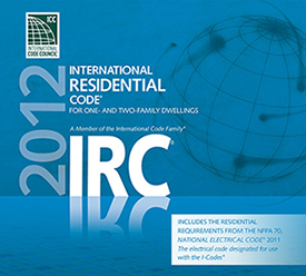 We follow the 2012 International Residential Code!